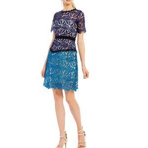 e8411526205 ... Jax two-tone lace a-line dress ...